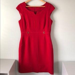 Tahari Arthur Levine Red Dress